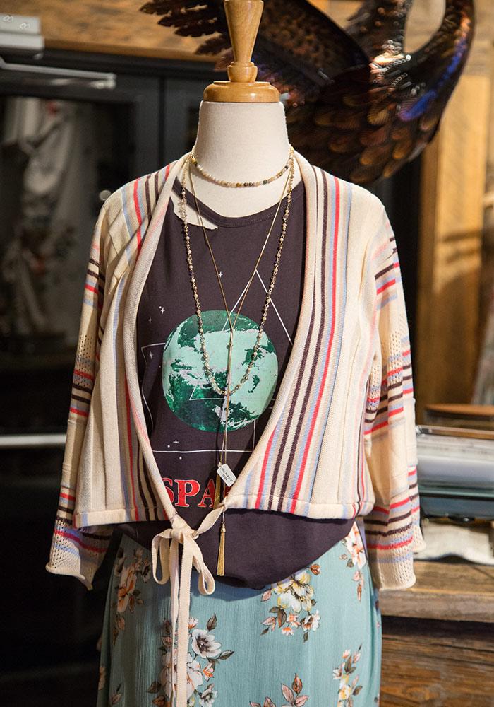 POL Clothing Bohemian Pink & Black Floral Print Burnout